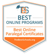 Best Paralegal Online Program Badge