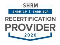 SHRM Recertification Provider Seal - 2020