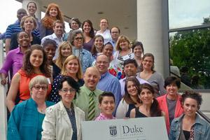 A group photograph of Nonprofit Management Certificate students