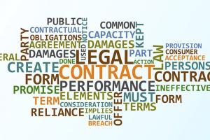 Colorful word cloud of terms related to paralegal studies