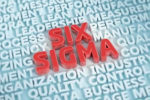 Stylized image of Six Sigma in red