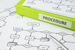 Picture of workflow diagram with procedure manual